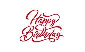 Happy Birthday hand drawn lettering.
