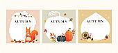 Set of autumn illustrations