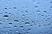 Rain Drops in various colors - Abstract Background