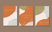 Abstract earth tone flyer