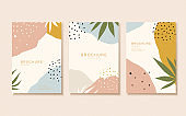 Abstract pastel color flyer