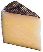 Piece of italian cured sheep cheese Pecorino