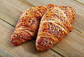 Sesame seed croissants, french dessert