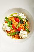 Tomato risotto top view