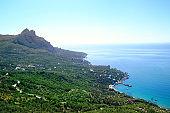 Beautiful seascape near Laspi, Crimea.