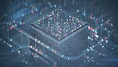Digital code processing system 3D render