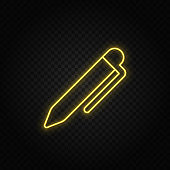 Yellow neon icons