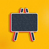 blackboard pop art, retro icon. Vector illustration of pop