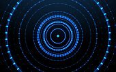 Abstract digital technology background.Futuristic glowing circle background