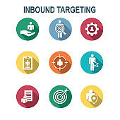 Inbound Marketing Icons with targeting imagery to show buyers & customers