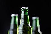 Bottles of cold beer
