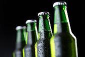 Bottles of beer in a row
