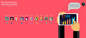 Social Network Technology,Contact communicate with  People various,Infographic template.