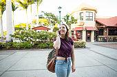Exploring a Beautiful Outdoor Mall