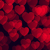 Valentine's Day background with bokeh hearts design