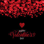 Decorative Valentines Day background with hearts design