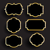 Decorative gold and black frames collection