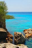 A vertical segment of Kenepa Beach or Grote Knip (Curacao)