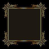 Elegant background with decorative gold border