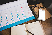 Planner and Calendar Concept.