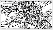 Kahramanmarash Turkey City Map in Black and White Color in Retro Style. Outline Map.