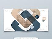 Square Brochure Design. Cover Template for Brochure, Report, Catalog, Magazine. Modern Brochure concept