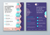 Flyer template layout design. Corporate business annual report, catalog, magazine, flyer mockup. Creative modern background flyer concept in abstract flat style shape