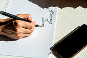 Handwritten text on a white sheet of paper.