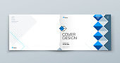 Horizontal Brochure template layout design. Landscape Corporate business annual report, catalog, magazine, flyer mockup. Creative modern background concept in abstract flat style shape