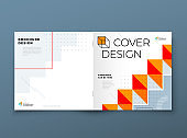 Square Catalog template layout design. Corporate business annual report, catalog, magazine, flyer mockup. Creative modern background concept in abstract flat style shape