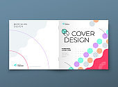 Square Brochure template layout design. Corporate business annual report, catalog, magazine, flyer mockup. Creative modern background concept in abstract flat style shape