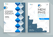 Covers with minimal geometric design. Modern abstract backgrounds for Brochures, Placards, Posters, Flyers, Banners etc. Eps10 vector template.
