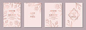 Modern floral wedding invitation or card templates for business or presentation or banner or birthday greeting.