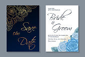 Modern floral luxury wedding invitation design or card templates for birthday greeting or certificate or poster.