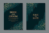 Modern grunge luxury wedding invitation design or card templates for business or poster or greeting.