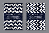 Modern geometric card templates for business or presentation or banner or new year greeting.