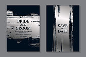 Set of modern luxury wedding invitation design or card templates for business or presentation or greeting.