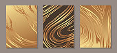 Set of modern abstract luxury backgrounds for business or presentation or greeting cards.