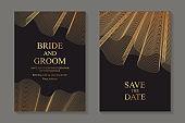 Wedding invitation design or greeting card templates.