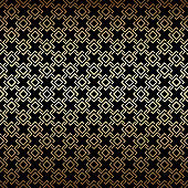 Golden and black seamless pattern, art deco style