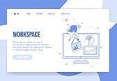 Virtual office workspace organization landing page