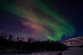 Aurora Borealis, River Eibyelva, Alta, Norway