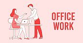 Office work effective and productive teamwork