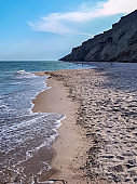 Black sea coast in Kurortnoye, Ukraine
