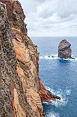 Shot of Ponta de Sao Lourenco in Madeira, Portugal