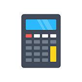 Calculator icon. Flat design. Vector icon