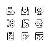 Agreement line icons set. Modern graphic design concepts, black stroke linear symbols, simple outline elements collection. Vector line icons