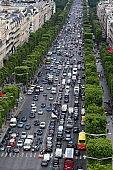 Traffic on the Av. of the Champs-Élysées