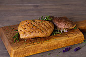 Duck breast fillets with herbs