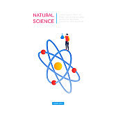 Natural science concept - modern isometric vector web banner